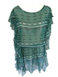 Jessica Simpson Beach Bathing Cover Up Green Women#x27;s Size S Small Summer New $29.69