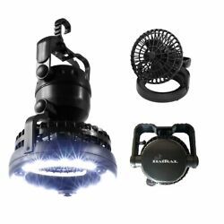 2 IN 1 Portable LED Camping Lantern with Ceiling Fan LED Flashlight Lamp Outdoor $12.99