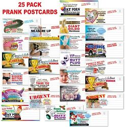 25 PACK Adult PRANK Mail Postcards FUNNY Joke Revenge Gag Gift Novelty $28.99