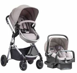 Evenflo Pivot Modular Travel System with SafeMax Car Seat Sandstone $369.01