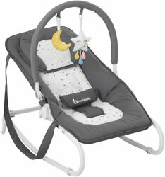 Badabulle B012012 Fixed Bouncer Baby Chair Rocker Removable Toy Bar With 2 Toys $212.67