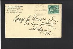 BINGHAMMAINE.1882 BANKNOTE COVER.TARGET CL. HOTEL ADVT: STAGE HOUSE. $30.00