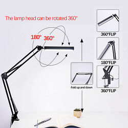 Bedroom reading lamp table lamp LED 360°rotating adjustable clip lamp $25.99