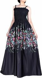 Women Plus Size Maxi Long Black Dresses Boho Summer Party Gown Prom Sundress