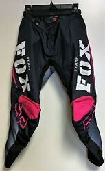 Womens or Girls Fox Motocross 180 Riding Racing Pants Pink Black White Size 7 8 $86.99