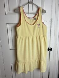 Jasmine Rose Intimates Yellow Terry Cloth Beach Cover Up L $18.99