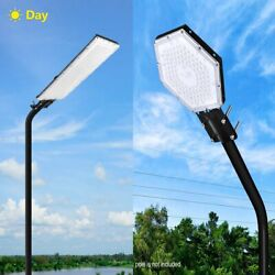 100W 300W Commercial LED Solar Street Light Outdoor Garden Yard Road Lamp 110V