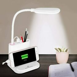 Reading Light Flexible LED Desk Lamp Table Touch Control USB Rechargeable $19.99