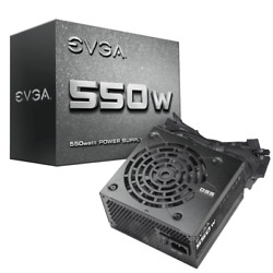 EVGA 550 WATT 550W 2 Year Warranty ATX Power Supply with Fan 100 N1 0550 L1 $44.95