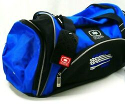 OGIO Crunch Blue Duffle Bag New quot;BACK THE BLUEquot; Embroidered 1st Responders $49.99
