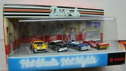 HOT WHEELS HOT NIGHTS at DRIVE IN COLLECTION Set of 4 CARS TARGET EDITION $12.00