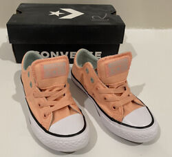Converse All Star Girls Shoes Size 12 US Junior Pink Coral Madison OX $29.99
