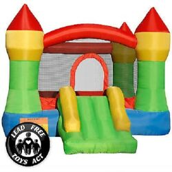 Inflatable Mighty Moonwalk Bouncer Bounce House Castle Jumper With 480W Blower $41.88