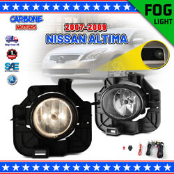 Fog Lights For 07 09 Nissan Altima Bumper Clear Lens Pair Lamp SwitchWiring Kit $43.65