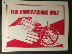 FOR HANDWASHING ONLY Commercial Sign Durable Plastic 11quot; x 8.5quot; Red on White
