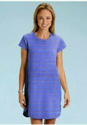 FRESH PRODUCE dress size small Peri blue Promenade stripe Kylie Dress NWT