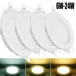 20X 6 24W Ultrathin LED Panel Light Recessed Round Ceiling Lamp Kitchen Fixtures $128.26