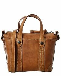 Frye Melissa Mini Leather Crossbody Shopper Women#x27;s Brown $89.99