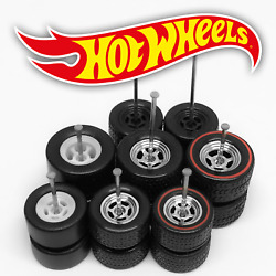 Hot Wheels 5 SPOKE DRAG Real Riders Wheels and Tires Set for 1 64 Scale $6.99