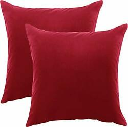 2 Pack Decorative Square Pillow Covers Zippered Cushion Covers Utopia Bedding $7.98