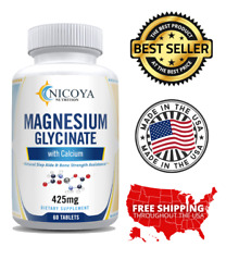 Magnesium Glycinate 350 mg For Improved Sleep Stress amp; Anxiety Relief $9.85
