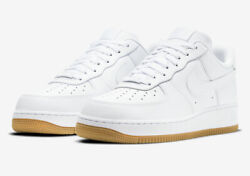 Nike Air Force 1 #x27;07 Shoes White Gum Sole DJ2739 100 Men#x27;s NEW $134.99