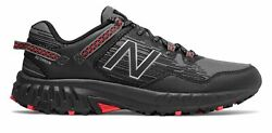 New Balance Men#x27;s 410v6 Trail Shoes Black with Grey amp; Red $51.69