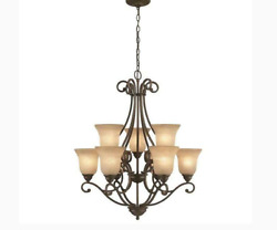 Vintage Tan Frosted Glass Chandelier Shades Big Heavy and Thick $7.50