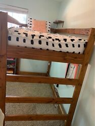 Twin loft bedsL 78quot; W 44.25quot; H 65quot; From floor to first horizontal piece: 46 $95.00