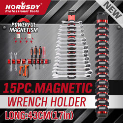 16quot; Super Magnetic Wrench Holder Tool Organizer Adjustable Wall Hang 15 Spanner $17.99