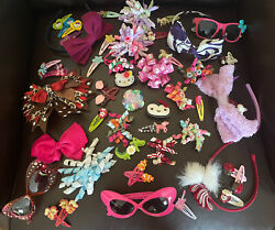 Gymboree Huge Lot of hair bows Barrettes Clips headbands Sunglasses Accessories $30.00