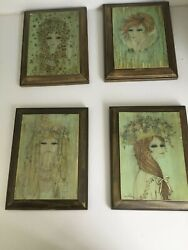 Set of 4 Vintage Wuersch Art Mid Century Modernist Cuca Romley Prints $150.00