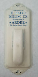 Antique Hubbard Milling Ardee Flour Towel Holder Painted Metal Advertising $52.00