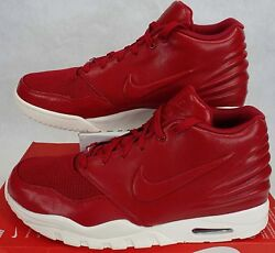 New Mens 13 NIKE Air Entertrainer Gym Red Leather Shoes $130 819854 600 $99.00