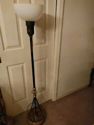 Vintage TORCHIERE Lamp amp; Shade $225.00