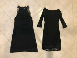 Little black dresses 2 dresses size S lace