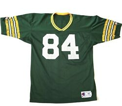 Champion Football Jersey Green Bay Packers Sterling Sharpe #84 Size 48 Green VTG $74.65