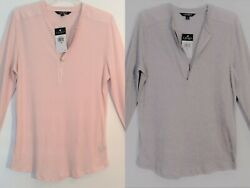 NWT $64 PLUS Women#x27;s LAUREN RALPH LAUREN 1 2 Zip Knit SPRING Top Colors 1X NEW $19.97