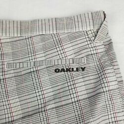 Oakley Multi Color Plaid Short Size 40 12quot; Inseam Flat Front Chino Golf Adult $21.88