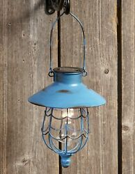 Distressed Porch Lantern Solar Powered Light with Vintage Style Cage $22.98