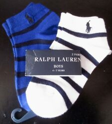 NWT Ralph Lauren Boys Socks Size 4 7 Years 2 Pair $7.99