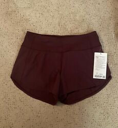 Lululemon Speed Up Short Long Size 6 Tall CSSI Cassis NWT $58.00