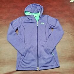 Women#x27;s North Face Hooded Purple Zip Up Polyester Jacket Small $21.99