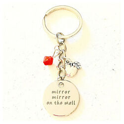 Evil Queen Mirror Mirror On The Wall Princess Accessories Silver Keychain Gift $16.00