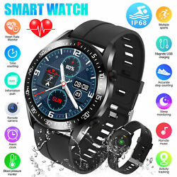 Waterproof Smart Watch Heart Rate Blood Oxygen Monitor for iOS Android iPhone $35.98