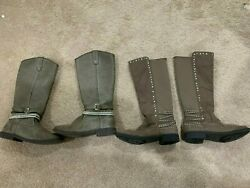 Girls knee high boots size 5 justice $19.99