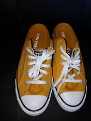 Converse All Star Womens Size 6.5 Mustard Yellow Mule Slip ons $24.99
