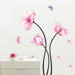 Wall Stickers Flowers Home Decor For Room Decorative Wallpaper Decals Backdrop $9.99