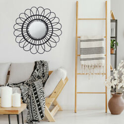 Wall mounted Home Mirror Weaving Rattan Mirror for Wall Room $27.03