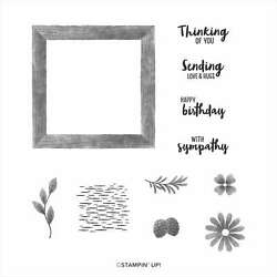 Stampin#x27; Up quot;Framed for Youquot; Cling Stamp Set Retired NEW $22.99